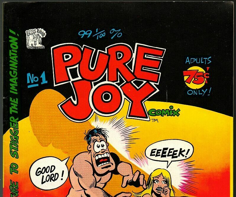 Pure Joy, Poo Bear Prod. 1975, underground comix, 4 pages by George DiCaprio