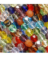 6mm Mixed Faceted Fire Polished Czech Glass Beads (50) - $3.79