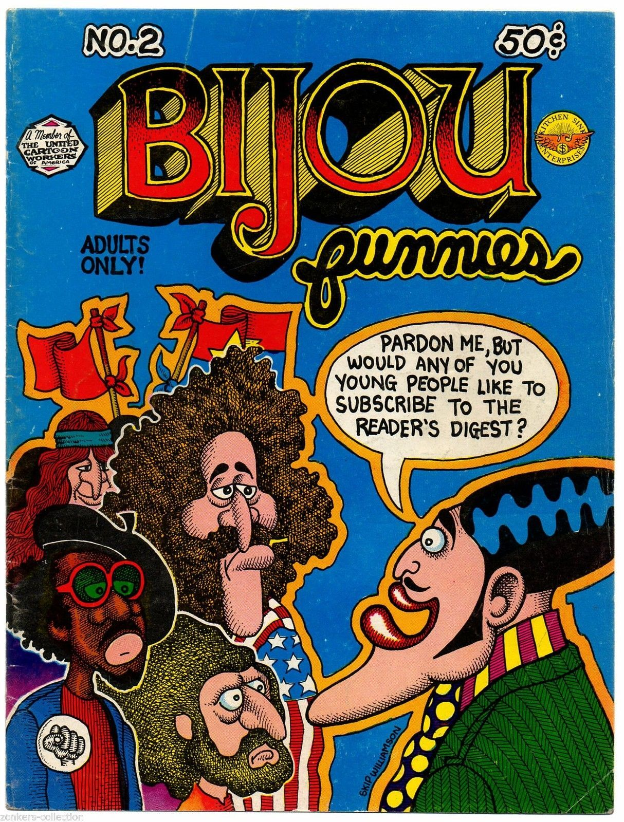 Bijou #2 Kitchen sink 1972, 3rd print, underground comix, Shelton, Lynch, Crumb,