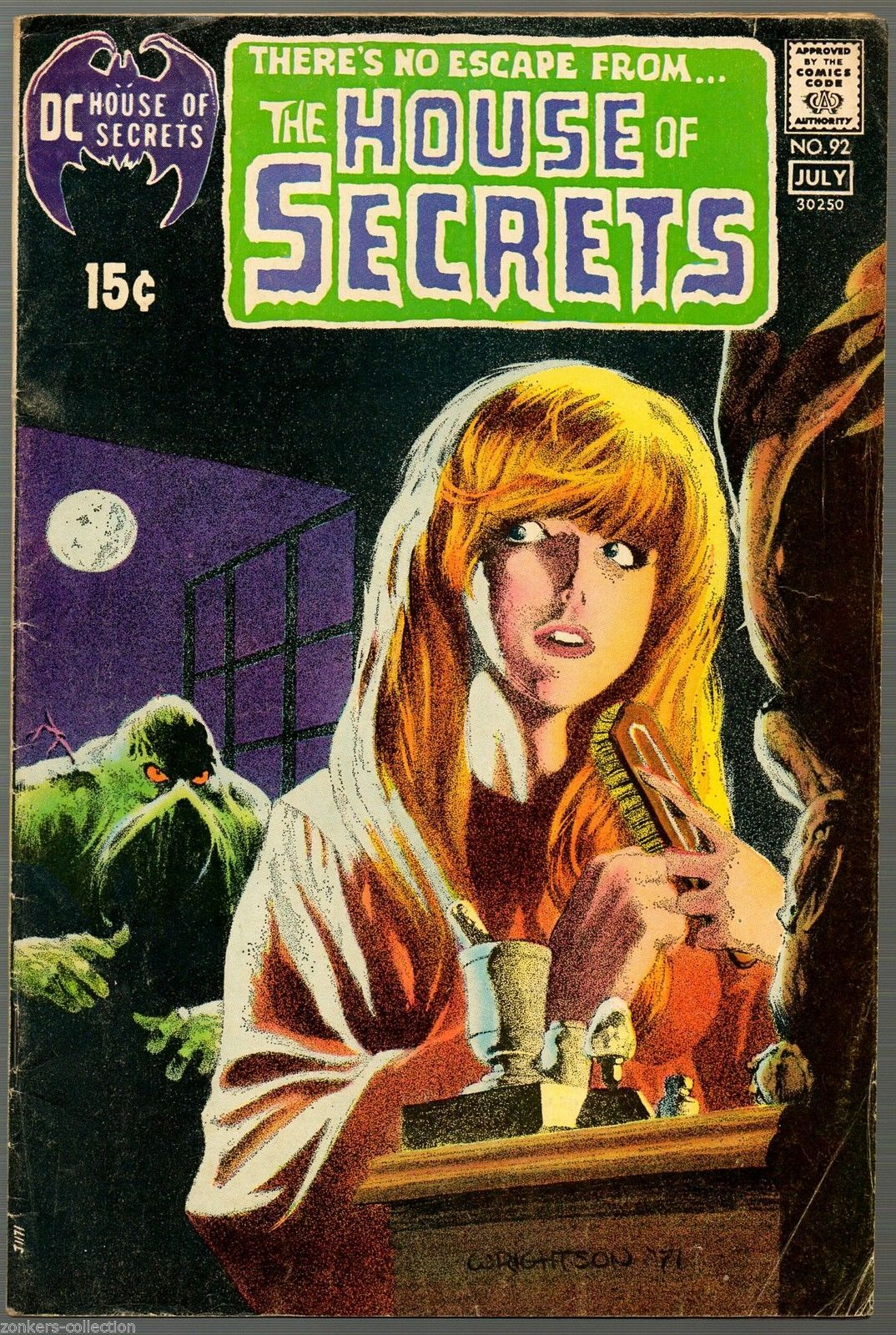 House of Secrets 92, SIGNED by Bernie Wrightson, DC 1971, 1st Swamp Thing