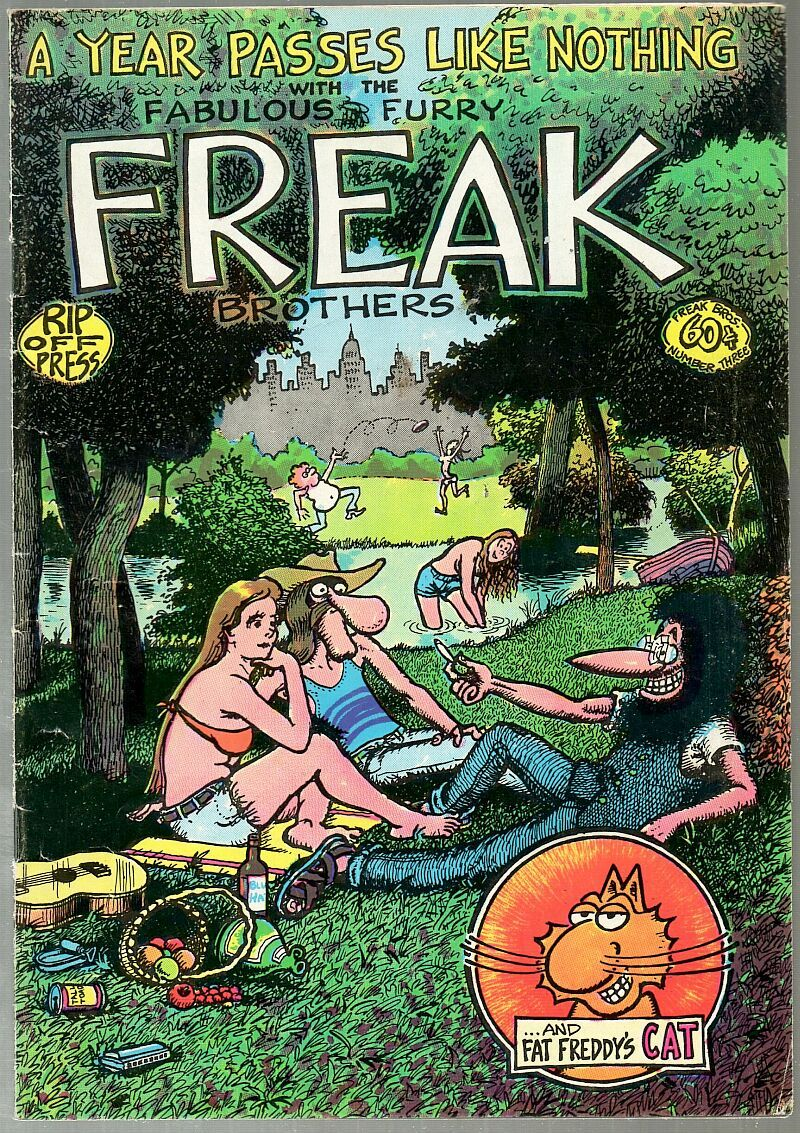 Freak Brothers 3 Rip Off Press 2nd print 1973 Gilbert Shelton underground comix
