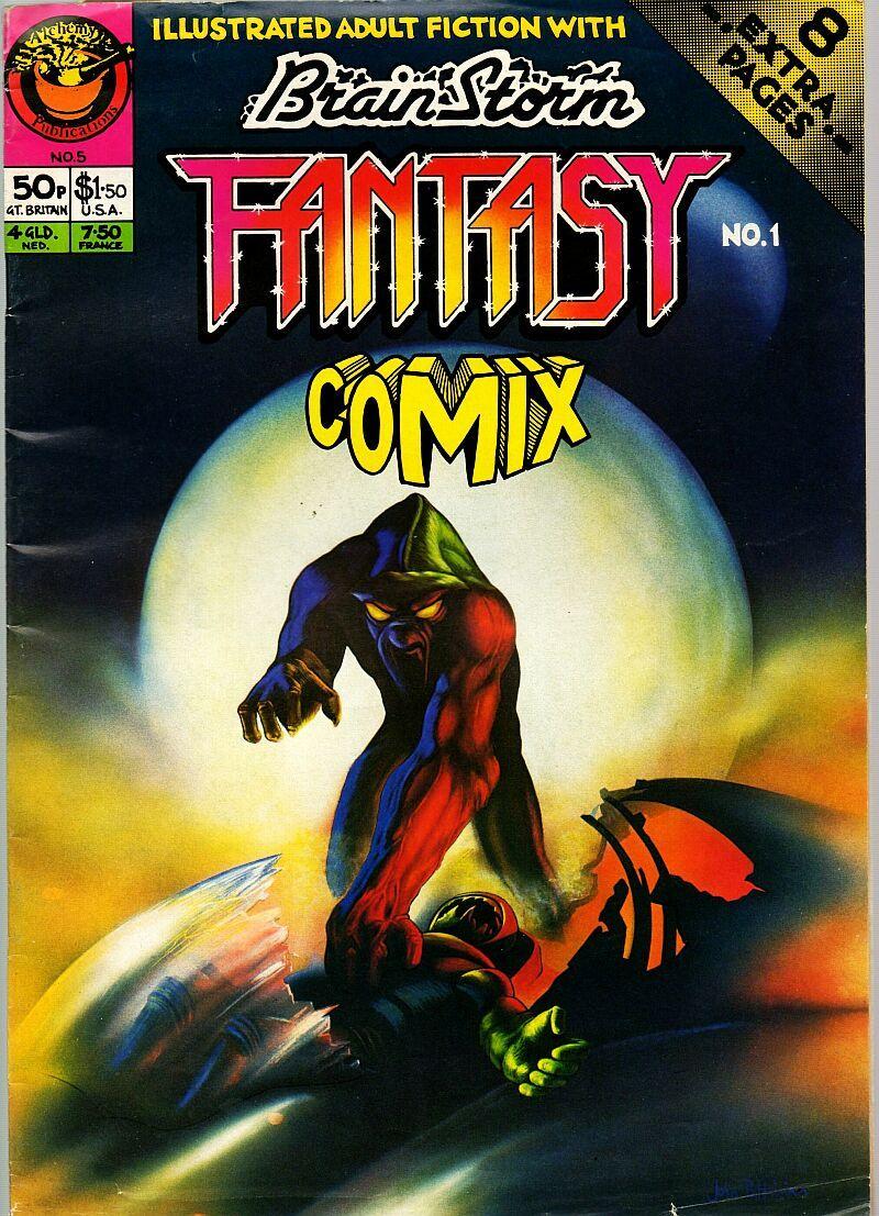 Brainstorm 5, Summer 1977, aka Fantasy Comix 1, (British)  v2 #1, Bryan Talbot