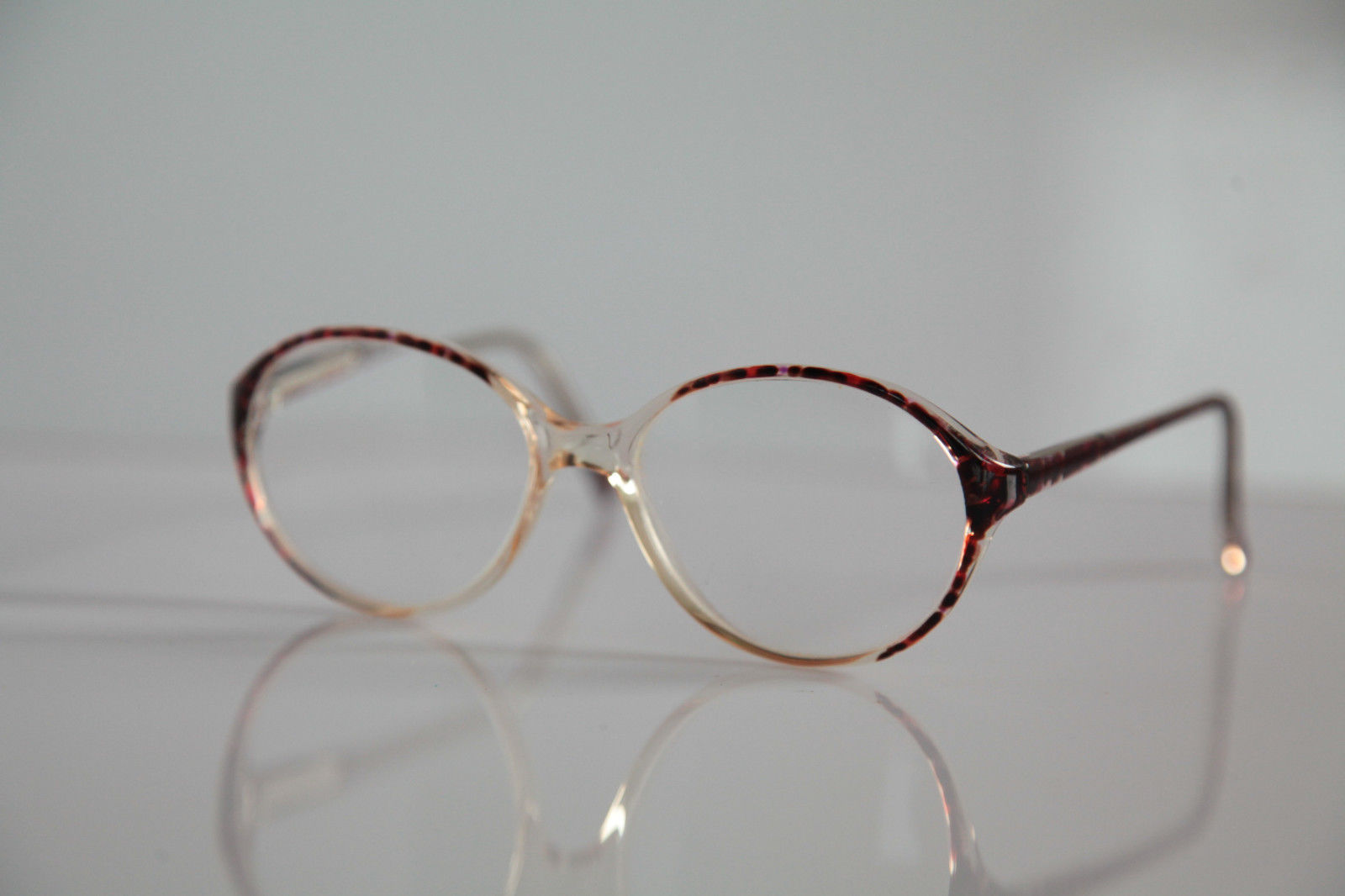 AMA Eyewear, Crystal , Brown Frame, Crystal RX-Able Prescription. USA