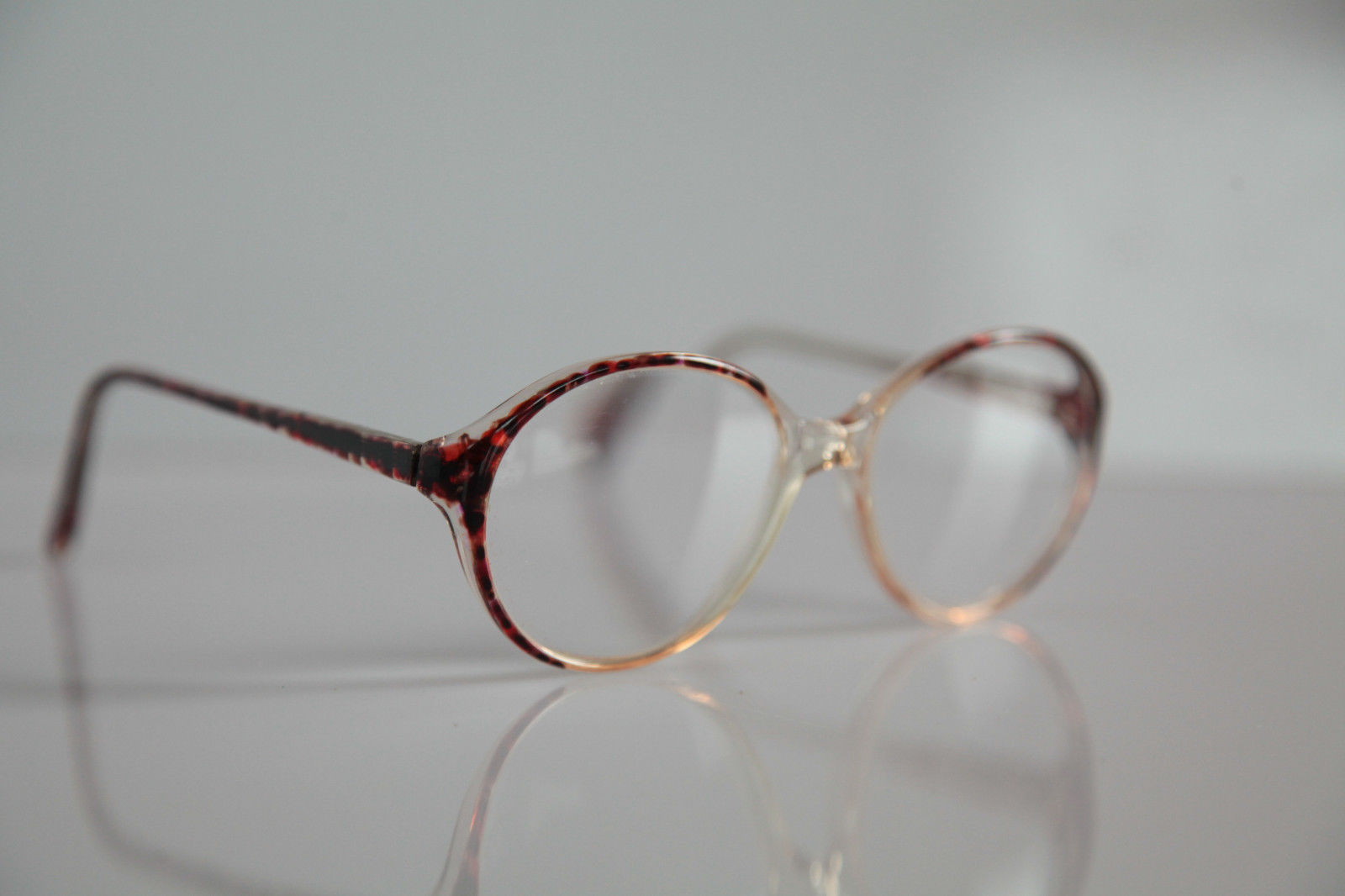 AMA Eyewear, Crystal , Brown Frame, Crystal RX-Able Prescription. USA