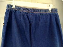 Denim & Company Elastic Waist Jeans Size LT Dark Blue image 8