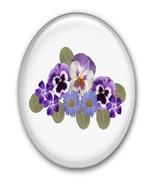 Purple Flower Brad Clear Glass-Digital Download... - $4.00