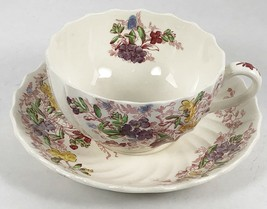 Spode FAIRY DELL Cup and Saucer Tea Copeland Great Britain Floral Swirl ... - $9.89
