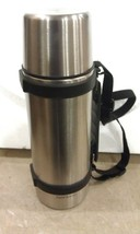 """5 Gg08 Stainless Steel Thermos Jug, 11 1/2"""" Tall, Small Ding In Bottom, Very Good - $8.66"""