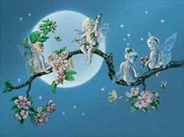 Pixies on The Moon Fairies Collectible Vintage 6X8 Fantasy Foil Print - €3,26 EUR