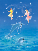 Dolphins and Fairies Collectible Vintage 6X8 Fantasy Foil Print - €3,38 EUR
