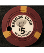 "1953 - $5.00 Casino Chip From: ""Harolds Club"" - (sku#3146) - $39.99"
