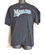 Majestic Florida Miami Marlins t Shirt nice logo XL Free Shipping - $14.95