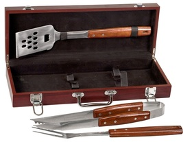 ROSEWOOD BARBECUE SET PERSONALIZED - €70,50 EUR