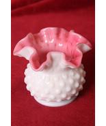 Vintage Fenton Fluted Milk Glass with Pink Interior Vase - $39.99
