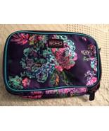 London Soho NY Zippered Makeup Bag Blue Flowers - $12.87