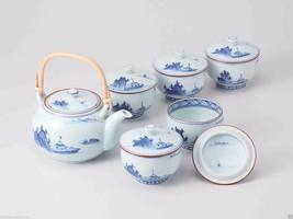 [Premium] Hasami Porcelain : Korin Landscape - Kyusu Tea pot & 5 tea cup... - $438.52