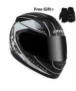 Fiber motorcycle helmet with gift gloves. 15 colors available. - $89.99+