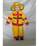 "The Fireman      J. Misa Collection 16"" Porcelain Doll  - $25.00"