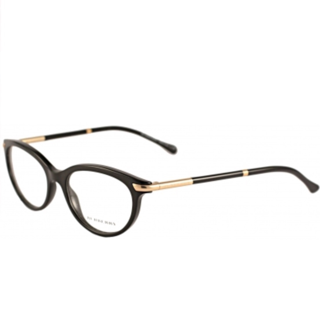 Burberry BE2177 3001 Black Eyeglass Frame 51mm - Eyeglass ...