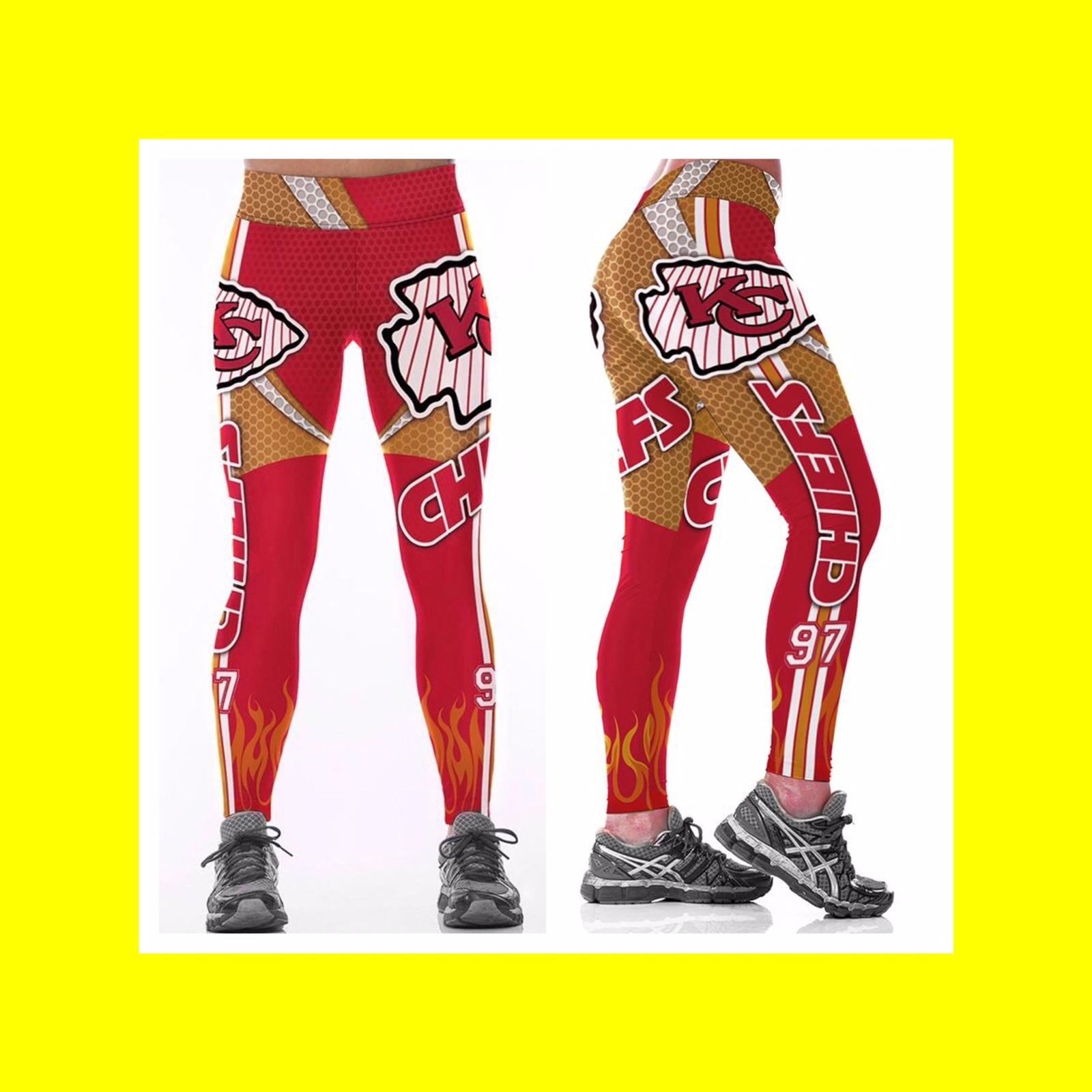 NFL CHIEFS Leggings -#97 Womens Fan Gear - Kansas City Chiefs - Fan Gift Idea for sale  USA