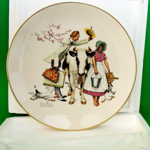 "1977 Gorham Large Collector Plate, Norman Rockwell's ""The Traveling Salesman"" - $12.95"