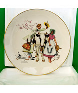 "1977 Gorham Large Collector Plate, Norman Rockwell's ""The Traveling Sale... - $12.95"