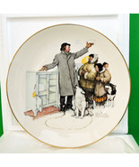 "1980 Gorham Large Collector Plate, Norman Rockwell's ""The Expert Salesman"" - $12.95"