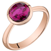 Women's 14k Rose Gold Round Ruby Solitaire Ring - $399.99