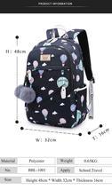 Women Backpack Travel Anti Theft Design Large Capacity Teenage Girl School Bags image 8