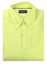 Ralph Lauren Mens Lime Green Shirt size 17 Inch Collar Purple Label - $164.74