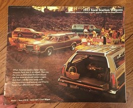Original 1977 Ford LTD, LTD II, Pinto station wagon + Club Wagon sales brochure - $6.76