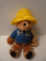 Vintage 1981 Eden Toys 14 inch Paddington Bear w Blue Sweater Hat PlushToy - $9.89
