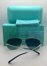 New TIFFANY & CO. Sunglasses TF 4115 8205/3C Burgundy & Gold Frame w/ Gr... - $499.98