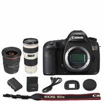 Canon EOS 5DS DSLR Camera Body + EF 17-40mm f/4L USM + 70-200mm f/4L Lens - $3,170.99