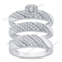 The Pleasing Married Ring is styled in delicate design at most affordabl... - $133.11