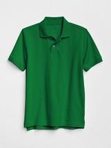 Gap Kids Boys Uniform Polo Shirt 8 Green Short Sleeve Pique Cotton Ribbe... - $14.95