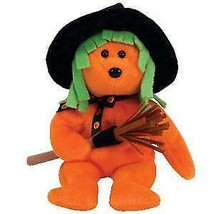 Spells The Orange Halloween Witch Bear Beanie Baby Retired  MWMT Ty Excl... - $9.85