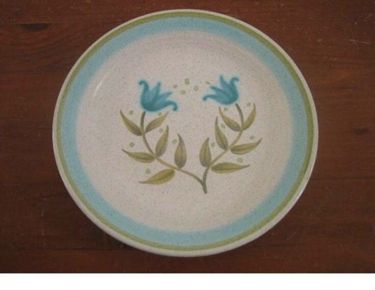 "Franciscan Tulip Time Bread And Butter 6 5/8"" Plates Vintage Qty 5 image 2"