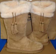 UGG Australia PLUMDALE Chestnut Suede Sheepskin Boots Size US 5, EU 36 NIB #1894 - $133.60