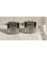Vtg Anson Silver Tone Cufflinks Shamrocks - $5.89