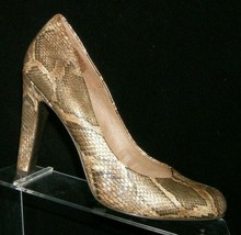 Jessica Simpson 'Jessica' man made snake print round toe slip on heels 7... - $31.43