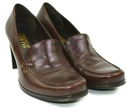 Franco Sarto Women's Brown Slip On Dress Heels Shoes Made In Brazil Size... - $38.35