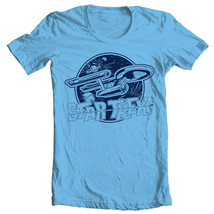 Star Trek Enterprise T-shirt original series cotton Kirk Spock blue tee CBS936 image 1