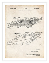 First Computer Microchip Invention Poster 1964 Us Patent Print 18X24 Kilby Gift - $19.75