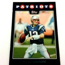 Tom Brady 2008 Topps Black Factory Team Card #7 NFL Patriots Buccaneers - $2.92