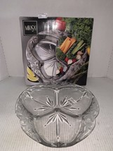 "New Mikasa Crystal 3 Part Divided Server Garden Terrace WY923/345 12"" - $20.00"
