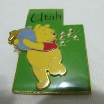 2002 Disney 3D Trading Pin State Character Utah UT Winnie The Pooh Pinback BIN - $21.99