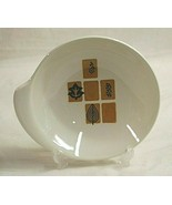 """Mosaic Harmony House China 7"""" Lugged Cereal Bowl Brown Squares Leaves & ... - $14.84"""