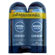 Nivea Men Deep Dry and Clean Deodorant Antiperspirant Roll On 50ml Pack ... - $19.99