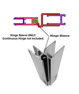 """Hinge Sleeve for Shower Doors with Continuous Hinge - 66"""" Long - $48.46"""